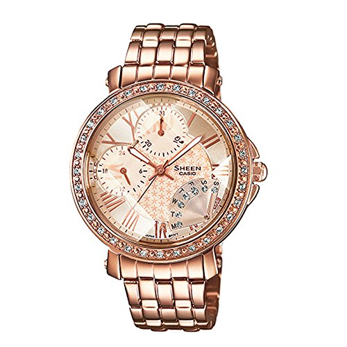 Casio Sheen Analog Pink Dial Women's Watch - SHN-3011PG-9ADR (SX143)