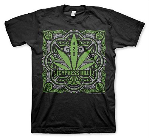 Cypress Hill Officiellement sous Licence 420 T-Shirt Pour Hommes (Noir), XX-Large