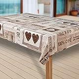 laro Wachstuch-Tischdecke Abwaschbar Garten-Tischdecke Wachstischdecke PVC Plastik-Tischdecken Eckig Meterware Wasserabweisend Abwischbar |05|, Größe:130x160 cm - 2
