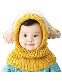 Bebé Sombreros y gorras, Kfnire Invierno Cálido Punto Sombrero Lana Capucha Bufanda