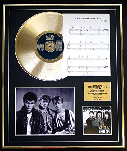 EC A-HA CD Gold Disc und Photo und Song Sheet Display/Limitierte Auflage/COA/Album, Headlines and Deadlines/Song Sheet, The Sun Always Shines on TV