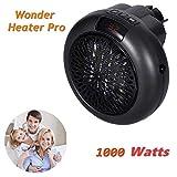Calefactor Portátil Handy Heater 900W Bajo Consumo Temperatura Regulable Baño Casa Oficina Enchufe UE (Negro)