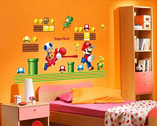 Super Mario Bros Entfernbare Wandaufkleber Aufkleber Kinder Wohnkultur