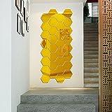 Gosear-12-piezas-Pegatinas-Decorativas-de-Pared-de-Desprendible-para-Bricolaje-Decoracin-de-Vida-Casa-HabitacinForma-de-Espejo-Hexagonal