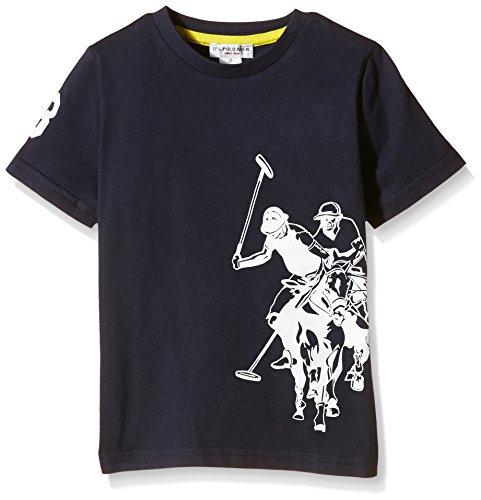 U.S. Polo Assn. - T-Shirt Maniche Corte Dbl Horse Ss, Unisex Bambino, Blu (177), 3
