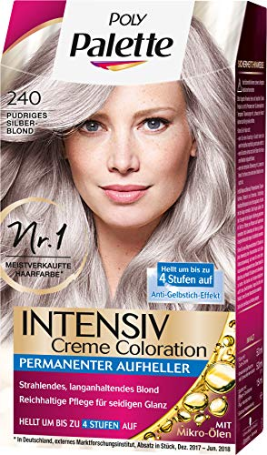 Poly Palette Intensiv Creme Coloration 240 Pudriges Silberblond, 1er Pack (1 x 115 ml)