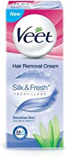 Veet Silk & Fresh Hair Removal Cream, Sensitive Skin - 25 g