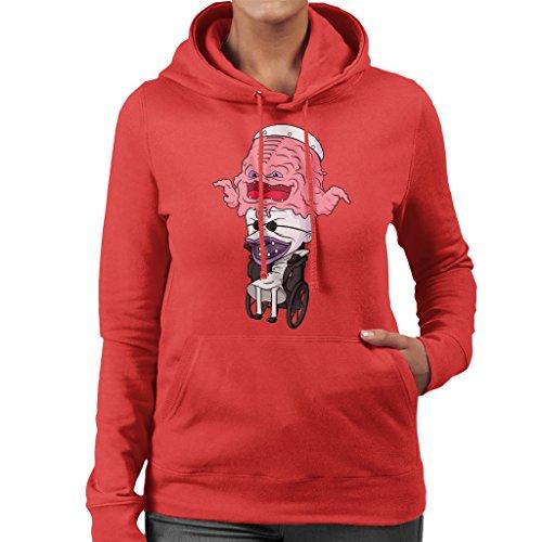 Krangkelstein TMNT Nightmare Before Christmas Womens Hooded Sweatshirt Red