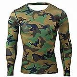 SANFASHION Herren Sweatshirts Fitness Männer Langarm Muscle Bodybuilding Bluse Pullover Trocknende Tops