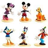 6 Pieces Mickey Cake Topper, Mickey Theme Party Supplies, Minnie Cake Decoration para Baby Shower Fiesta de Cumpleaños