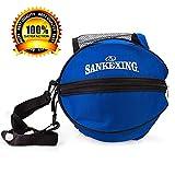 ASEOK Basketballtasche, praktisch, tragbar, große Tasche für Basketball, Fußball, Aufbewahrungstasche mit Schultergurt, Outdoor-Sport, Schultertasche, Fußball, PVC, Trainingstasche, Zubehör, Blau