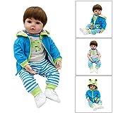 ECMQS 26 Inch (67 cm) Lebensechte Puppen Baby Junge, Qualität Reborn Puppe Komplett Silikon Vinyl Realistische Baby Puppe Handgemachtes Geburtstagsgeschenk