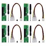 Raycity 4 Stück NGFF M2 M.2 zu PCI-E 4X 1x PCI-E Riser-Kartenadapter Männlich zu Weiblich PCIE Multiplier für BTC Miner Mining Machine Tool