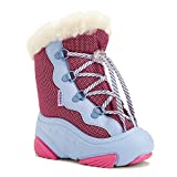 demar. Kinder Winterstiefel mit Wolle gefüttert SNOWMAR (22/23, blau/rosa)