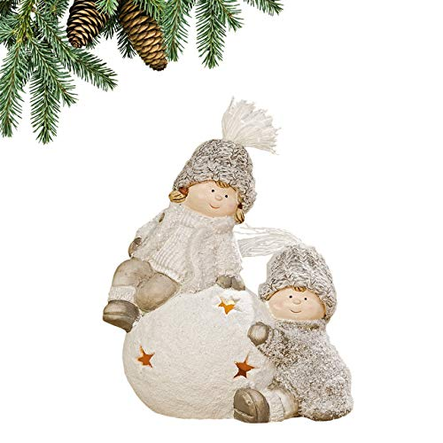 Weihnachtsdekoration, Magische Leuchte, Keramik-Teelichthalter Ornament, festliche Dekoration, Kerzenleuchter, Abenddekoration, Variation 3
