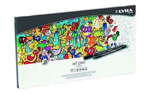 Lyra 6751300 Art Pen Faserstifte, Fasermaler, farbig sortiert, 33,7 x 19 x 1,5 cm