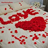 #1: 50PCs Lot Rose Petals Home Decoration Accessories (Red and white) Artificial Matrial Fabric | Items for bedroom Wedding Honeymoon Decorations