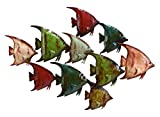 Metal Fish Wall Decor Beach Wall Art-(63533)