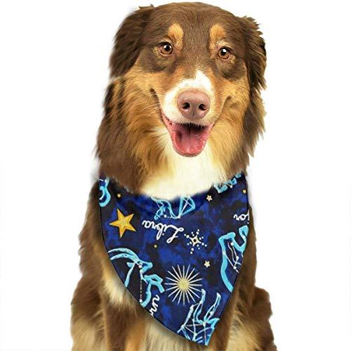 Osmykqe Hund Bandana Constellation Lätzchen Trangle Kopftuch für Katzen Pupply Big Dog Soft (Dog Name Tag-camo)