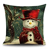 Gotd Christmas Snowman Reindeer Elk Pillow case 18 x 18 cuscino Home Decor design throw federa per cuscino custodia