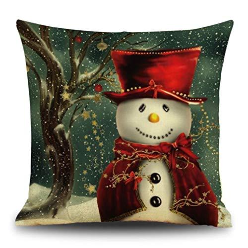 gotd Weihnachten Schneemann Rentier Elch Kissen Fall 18x 18Kissenbezug Home Decor Design Werfen Kissenbezug Werfen Kissen Fall (Aufblasbare Schneemann Weihnachten)