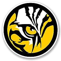 2 x Tiger Lion Cat Sticker Helmet Guitar Quad Car Bike iPad Laptop Decal #5476