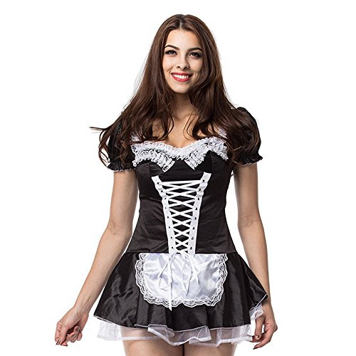 Französisch Plus Größe Maid Kostüm - Liu Sensen Dessous Für Frauen Sexy Dessous Maid Outfit Maid Uniform Französisch Maid Dessous Cosplay Oktoberfest Kostüm Plus Größe L XL 2XL 3XL 4XL Show Kleidung,XXXXL