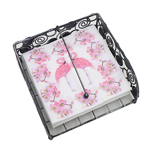 Isuper Papierservietten für die Feier des Jahrestages des Restaurants Flamenco Lindo Bedruckt Papierservietten 1 Set mit 20 Stück Rosa
