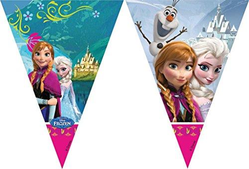 Speelgoed 84630P - Frozen Vlaggenlijn 2 m (Geburtstag Frozen Disney Dekorationen)