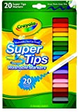 #6: Crayola Washable Super Tips (5 Fun-Scented Markers Included), 20 Count