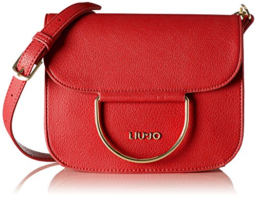 Liu Jo Damen Maincy Flap Umhängetasche, Rot (Mars Red), 9x17x22 cm