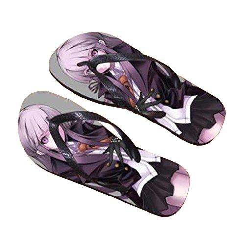 Bromeo Danganronpa Anime Unisex Flip Flops Zehentrenner Flip Pantoffeln 101