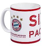 FC Bayern München Tasse / Kaffeetasse Deutscher Meister 2018 FCB - plus gratis Aufkleber forever München