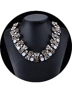 Kette Damen Party Outfit Choker Halskette Partykette Blogger Halsreif Trachtenkette