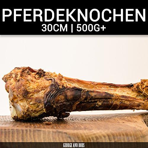 Pferdeknochen - 1Stk. | ca.35cm 500g+ | Hohe Qualität | Kausnack | Hunde | Allergiker | Naturkausnack