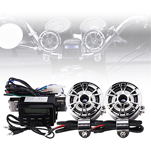 Stereo-system Scooter (YC Motorrad Audio Radio Lenker Verstärker Stereo Lautsprecher-System FM MP32Lautsprecher für Honda VT Shadow Spirit Velorex Deluxe 6007501100)