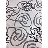 dalbgas – unidades 50 toallas de papel damasco Zara gris (Blanca con dibujo Nei colores
