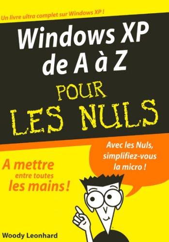 Windows XP de A à Z pour les Nuls