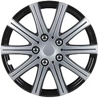 Unitec 75170 Adelaide - Tapacubos (4 unidades, 35,6 cm, 14''), color negro y plateado