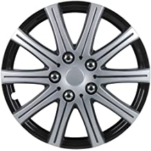 Unitec 75171 Adelaide - Tapacubos (4 unidades, 38,1 cm, 15''), color negro y plateado