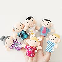 PANYTOW 6 Pcs Finger Puppet Set Soft Toy children