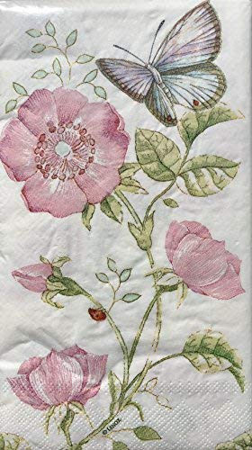 CR Gibson Lenox Butterfly Meadow Pink Gäste Abendessen Servietten 16Count Butterfly Meadow Serviette