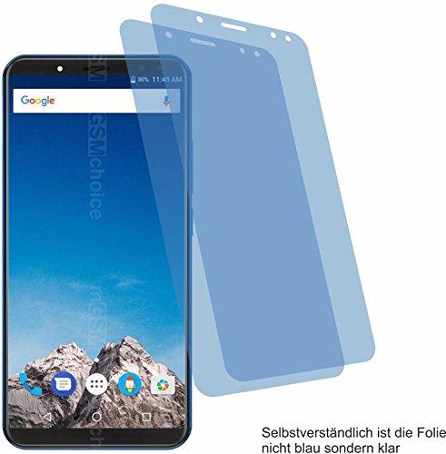 2x Crystal clear klar Schutzfolie für Vernee X Displayschutzfolie Bildschirmschutzfolie Schutzhülle Displayschutz Displayfolie Folie