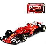 Bburago Ferrari SF70H Sebastian Vettel Nr 5 Formel 1 2017 1/43 Modell Auto