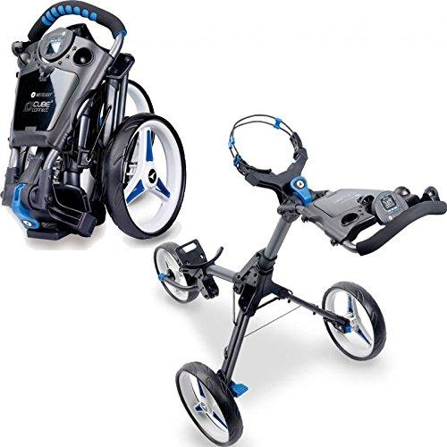 Motocaddy Golf Push Trolley Cube 3 mit intregierten GPS Graphit/Blau -