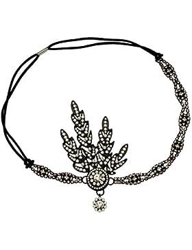 iShine Kopfschmuck Damen Stirnbänder für Braut Brautjungfer mit Strass Künstliche Perle Frauen Mädchen für Party...