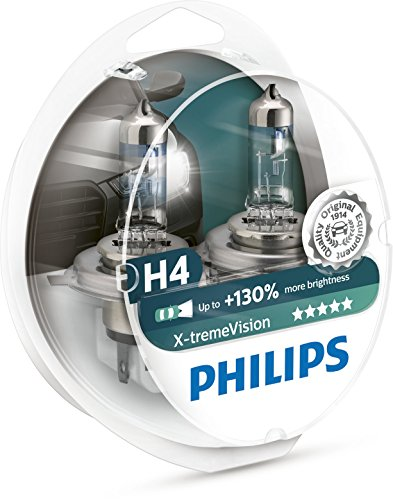 PHILIPS XTREME VISION +130 H4 Ampoules de Phare Avant Origine (2PCS) 12342XV +S2