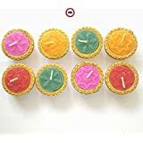 2DS Diwali Diya Candles For Home Decoration & Best Puja Ambience | This High Quality Beautiful Elegant And Colourful Diya Candles Can Be Used In Any Occasions, Festivals Of India. Like Diwali, Navratri For Best Puja Decoration, Without Fragrance Set O