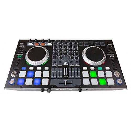 JB Systems DJ-KONTROL 4 Professioneller 4-Kanal MIDI-Controller inklusive Virtual DJ LE Software