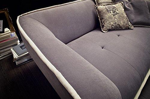 Dreams4Home Megasofa 'Supra' - Couch, Sofa, Wohnzimmer, Polstergarnitur, Bigsofa, Kuschelsofa, große Sitztiefe, Wellenfederung, Stellmaß BxT: 225 x 127 cm, in grau-beige - 2